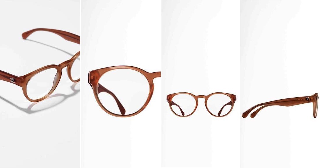 9ea1a4303cc030 Ronde acetaat brillen van Chanel