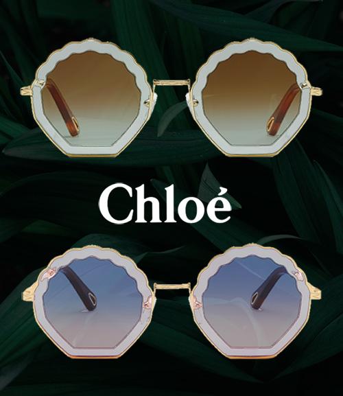7a16a8dfeaa Tally zonnebril van Chloé  uniek en elegant in de vorm van een zeeschelp
